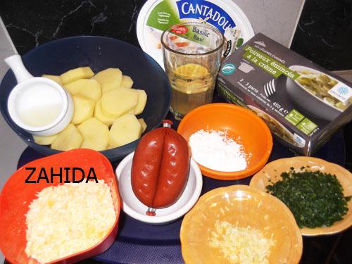 Gratin aux poireaux,pomme de terre et saucisson à l'ail dans GRATINS dscf5727