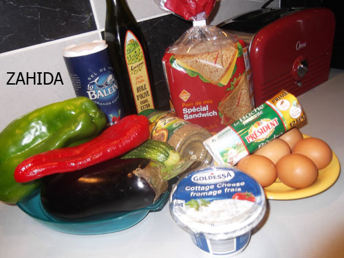 Croque-madame aux légumes et fromage de chèvre dans LES ENTREES dscf61492